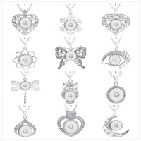Necklace Fashion Jewelry Snap Snap abbastanza pendenti fai da te Ginger Snap con catena Fit 18 millimetri pulsante fascino Woen incanta gli uomini regalo di collane