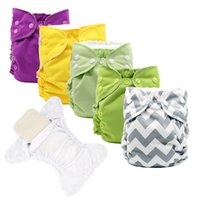 MABOJ Baby Cloth Diaper One Size Pocket Cloth Nappies with 4...