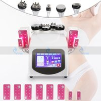 6 en 1 Máquina de cavitación ultrasónica RF DIODE LIPO láser adelgazante Cuerpo de vacío Anti Cellullito Radio Frecuencia Pérdida de peso Belleza Salón de belleza