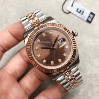 meistverkauften 36 MM Roségold Zifferblatt oben Uhr der Männer Datum Serie hohe Qualität Original Mechanische Datum m126331 nur Armbanduhren