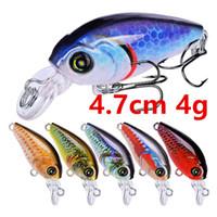 10 색 4.7cm 4G 크랭크 낚시 후크 Fishhooks 10 # Hook Hard Baits Lures J-004