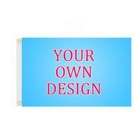 Individuelle Fahnen Banner 2x3ft / 3x5ft / 4x6ft / 5x8ft Innen Ourdoor Polyester-Gewebe für Werbung Sports Club Festival Nutzungs, kostenloser Versand