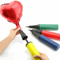 Balão inflador mão empurrar a bomba de balão de banqueta de ar de inflar a bomba para o Natal dia dos namorados dia dos namorados decoração de aniversário hha510