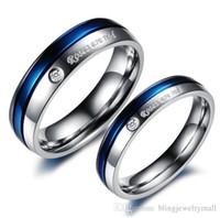 Fashion Stainless Steel Couple Ring Senior Couple Titanium Engagement Ring 192