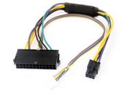 Cavo adattatore del connettore ATX 24Pin Per 2 porte 6Pin Cavo di alimentazione scheda madre per HP 8100 8200 8300 800G1 Elite 30 CM 18 AWG 100pcs DHL