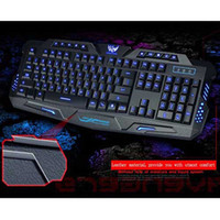 A877 Wired USB LED Backlit Gaming Keyboard 3- Color Switchabl...