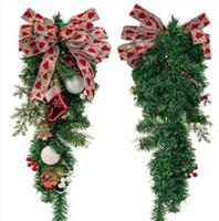2020 Hanging Ornamenti vendite calde 24inch Bowknot di Natale per Natale Albero porta decorazione a parete