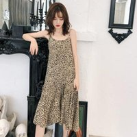 Womens Leopard Printed Dresses 2019 New Arrival Summer Holid...