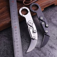 Sharp Karambit Coltello piegatura dell'acciaio inossidabile lama lama tattica di caccia pesca di campeggio e campo di sopravvivenza ad alta durezza