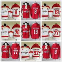 Goedkope Jersey Mens 8 Alex Ovechkin 19 Nicklas Backstrom 70 Braden Holtby 77 T.J. Oshie Washington Hockey Hoodies Jerseys Sweatshirts