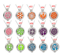 "8 pastiglie 15 Stili Premium Aromaterapia Essential Locket Pendant Oil Diffuser Collana in acciaio inossidabile 316L con 20 ""catena"