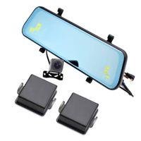 CAR DVR DASH CAM CAM зеркало DVR двойной камеры Full HD 1080P слепой промежуточный мониторинг Система датчика датчик