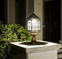 Kolom Koplamp Solar Outdoor Chinese Wandlamp Waterdichte Tuin Villa Led Vierkante Tuin Binnenplaats Deur Kolom Wanddecoratie Verlichting