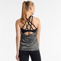 Fitness Mujeres transpirable Yoga Top Gimnasio Entrenamiento Top Top Entrante Atracante Sport Camiseta Camisa para mujer Camisa deportiva Cultivo Top