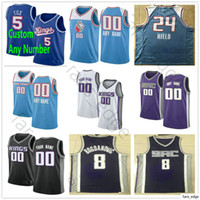 Tela Impresso Personalizado Marvin 35 Bagley III De'aaron 5 Fox Buddy Hield Bogdan Bogdanovic 1 Trevor Ariza Basketball jerseys