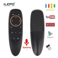 G10 Voz Air Mouse 2.4Ghz Remoto Mini Wireless Keyboard Android TV giroscópio Microfone IR Remote Control G10S caixa de tv Android para