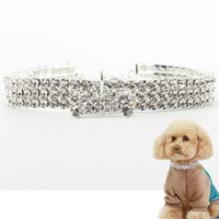 Hond ketting kraag sieraden parels diamante accessoire voor huisdier puppy nek decor harnassen ketting leidt YQ00990