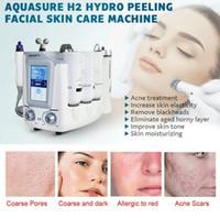 2021 Aquasure H2 Hydro Dermoabrasão Hydra Máquina Facial Bio Levantando Massagem Água Peeling Care Cuidados Deep Limpeza Anti Envelhecimento Dispositivo