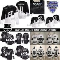 2020 Stadium Series Los Angeles Kings Jersey 8 Drew Doughty 11 Anze Kopitar 32 Jonathan Quick 99 Wayne Gretzky Branco Black Hockey Jerseys