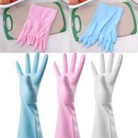 Рукавицы для мытья посуды ПВХ Материал Anti Waters Однослойная Перчатка Уборка Чистые Резиновые Чистящие Перчатки Новое Прибытие 2 4bd L1
