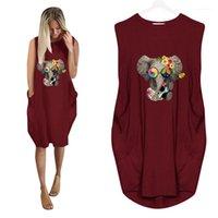 3D Fil Baskı Yaz Elbise Moda Bayanlar Rahat Kadın Giyim Artı Boyutu Gevşek Bayan Tasarımcı Tshirt Elbiseler