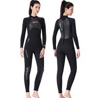 Diseñador-buceo con traje masculino 3MM todo-en-uno Snorkel Surf Traje de baño Mujer espesado invierno de manga larga Traje medusas SCR alta calidad