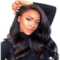 Перуанский человеческих волос Парики Объемная волна Silk Top Glueless полный парик шнурка Длинные волосы Remy 8-26 дюймов 13 * 4 фронта шнурка для женщин