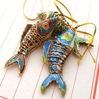 10pcs 5,5 centímetros 8,5 centímetros Balanço verdadeiro para a vida dos peixes de Koi do encanto para chaves com caixa de esmalte animal bonito chaveiros para as Mulheres Homens presentes de retorno de aniversário