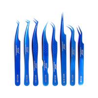 VETUS Профессиональный макияж ресниц Пинцеты Объем наращивание ресниц Пинцет синий Брови пинцет VETUS Отлично Закрытие