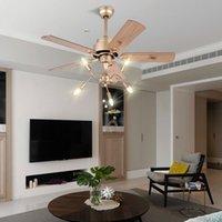 Moderne einfache traditionelle Fan Lampe Haushalt Esszimmer Schlafzimmer Massivholz-LED Deckenventilator Lampe kreative Persönlichkeit Fan-Licht