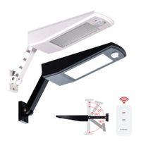900LM Solar Licht PIR Bewegungssensor 48 LED Auto Mit Fernbedienung Einstellbar Solarbetriebene Lampe Wasserdicht Für Garten Outdoor