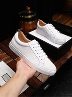 New products men' s casual white shoes imported calfskin...