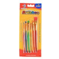 الجملة 6 العصي شفاف DIY الأطفال فرشاة الألوان المائية ورود ملونة لوحة فرشاة دائم للأطفال لينة فرشاة رسم القلم