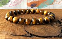 MG0339 Un bracelet en oeil de tigre Bracelet en pierre naturelle pour soulager le stress, bracelet, poignet, perles de Mala, bracelet, auto-expression