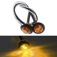 "10X Mini Âmbar 3/4"" Round Side 3 LED marcador Trailer Bala Car Light Waterproof"