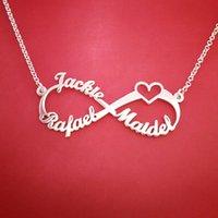 Сердце из нержавеющей стали подвески пользовательские имя ожерелье персонализированные розовое золото серебро бесконечность кулон Дружба подарок ювелирные изделия BFF