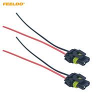 FEELDO 30 UNIDS Coche HID LED Bulbo Linterna Cable de Enchufe 9005/9006 Cable de Luz de Coche Conector de Arnés de Cable Cable de Alimentación # 5451