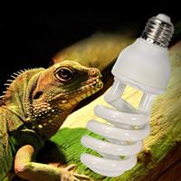 220V-240V 파충류 전구 5.0 10.0 UVB 13W 파충류 전구 UV 램프 동식물 사육장 테라리움 뱀 애완 동물 난방