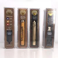 Haute qualité bois doré Laiton préchauffer batterie 650mAh 900mAh VV stylo vape fit 510 ouvert Th205 G2 M6T AC1003 Cartouches en verre