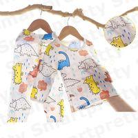 Bébé pyjama en coton d'été Vêtements anti-moustiques Costume bébé garçon filles Cartoon T-shirt imprimé + Pantalons Tenues enfants Vêtements Respirant E31005
