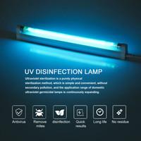 8W lámpara germicida de luz T5 del tubo de UVC esterilizador de muertes del ácaro del polvo Eliminador UV de cuarzo para el dormitorio / Hospital de 110V 220V