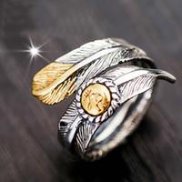 Alla hjärtans dag Gåvor Ringar Takahashi Wuro Retro Thai Silver Manlig Indisk Fjäder Arrow Öppna Ringar Kvinna 925 Silver Wings Ring