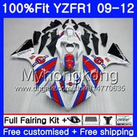 YAMAHA YZF 1000 R 1 YZF-1000 YZF-1000 YZF1 09 10 11 12 241HM.17 YZF R1 YZF1000 YZF-R1 2009 2010 년 2011 년 공장 화이트 페어링 키트