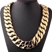 Chaînes 26/31mm Cool énorme grosse chaîne cubaine Homme pour homme 316L collier en acier inoxydable ou bracelet bijoux de mode 1pcs brithadday cadeau