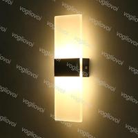 Настенные светильники 6W 12W светодиодные акриловые Настенный светильник Внутреннее освещение Настенный светильник Гостиная Спальня фона Коридор Patio Lamp DHL