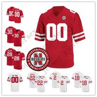 Personalizzati Nebraska Cornhuskers Qualsiasi jersey Nome Numero 2 Adrian Martinez 10 JD Spielman 22 Rex Burkhead personalizzato cucito College Football