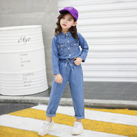 Girls Casual jeans with denim 2pcs set 2019 Baby Autumn New ...
