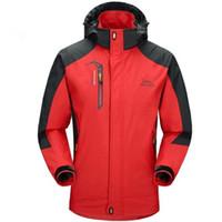 Jacket Men Army ветрозащитный капюшон дышащие мужские куртки и пальто Windbreak пальто Jacke мужчин плюс размер костюма