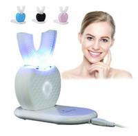 360 Градусов U-образный Ультразвуковая Электрическая Зубная Щетка USB Беспроводная Зарядка Hands-Free Зубная Щетка Зубы Чистый Массаж Отбеливание