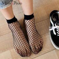 Calzini hosiery 2021 calzino cavo donne pizzo pizzo a rete corta rete massello di colore solido primavera sottile traspirante rete stile individuale caviglia